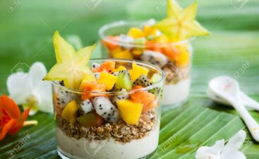 41961306-healthy-breakfast-with-exotic-fruits-yogurt-and-granola